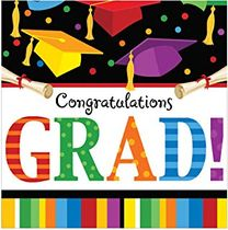 Graduation Fest Multi-color Lunch Napkins 18ct.