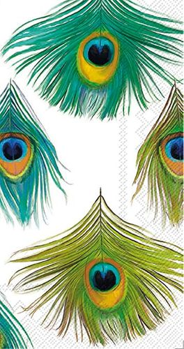 Posh Peacock Buffet / Guest Towels Napkins 16ct.