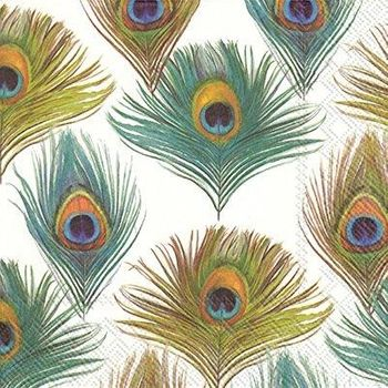 Posh Peacock Lunch Paper Napkins 20ct.