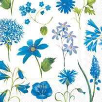 Sora Blue Floral Wedding Cocktail / Beverage Napkins 20ct.