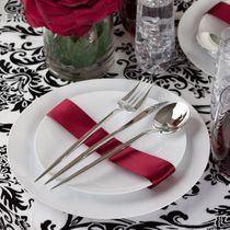 Novelty Collection Silver Looks Like Real Plastic Dinner Forks 32ct