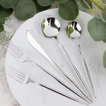 Novelty Collection Silver Looks Like Real Plastic Spoons 32ct