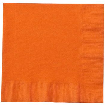 Orange Paper Lunch Napkins 20ct.