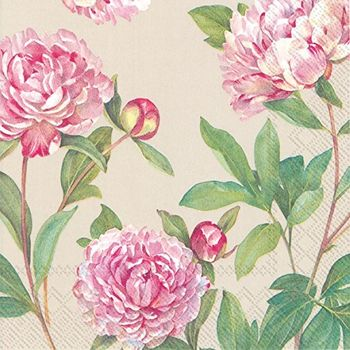 Paeonia Linen Lunch Napkins 20ct