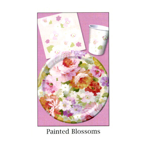 Painted Blossom Floral 9oz. Hot / Cold Paper Cups 8ct.