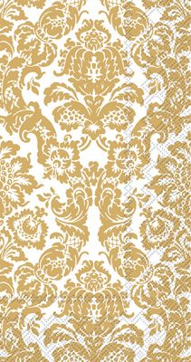 Palais White and Gold Guest Towels 16 Napkins per Pack