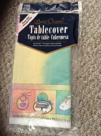 "Pastel Baby Shower Items Plastic Tablecloths 54"" x 108"""