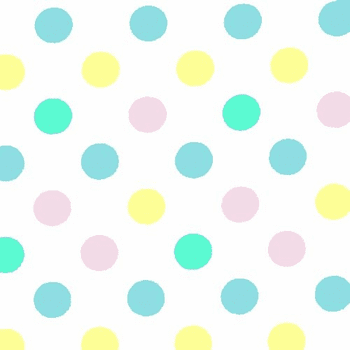 "Pastel Polka Dot Plastic Tablecloths 54"" x 108"""