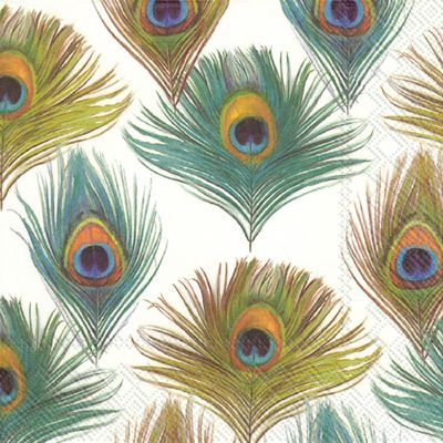 Peacock Cocktail Napkin, 20 count