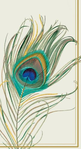 Peacock's Feather Guest Towels Napkins 16ct