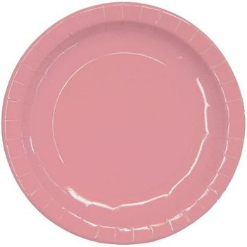 """Pink 9"""" Paper Dinner Party Plates 16ct."""