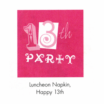Pinkalicious Happy Birthday 13th Lunch Napkins 16ct.
