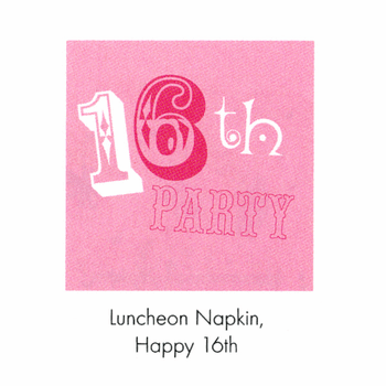 Pinkalicious Happy Birthday 16th Lunch Napkins 16ct.