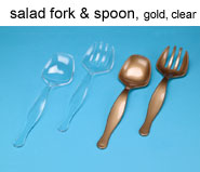Plastic Large Clear Salad Fork