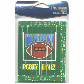 Play Book Football Party Invitations 16ct.
