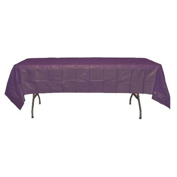 "Plum Rectangular Plastic Tablecloths 54"" x 108"""