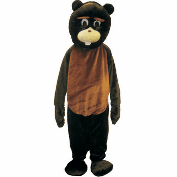Plush Beaver Halloween Adult Mascot Costume