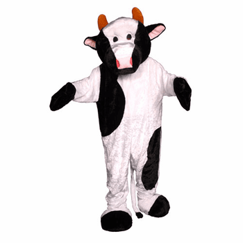 Plush Cow Adult Mascot Halloween Costume