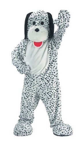 Plush Dalmation Adult Mascot Costume