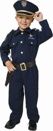 Deluxe Policeman Police Officer Halloween Costume Child