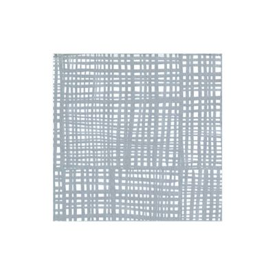 Raffine Paper Linen Cocktail Napkins in Silver - 15 Per Package