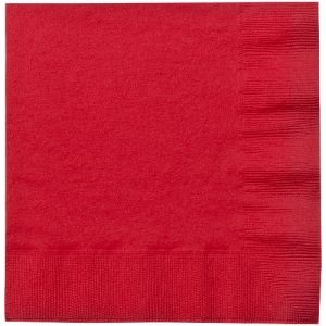 Red Beverage Paper Napkins 50ct.