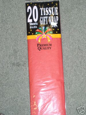 Red Gift Wrap 20 Sheets 20 x 26