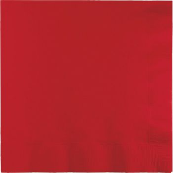 Red Lunch Paper Napkins 50ct.