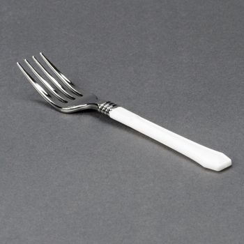 Reflections Duet Silver & White Plastic Fork 20ct.