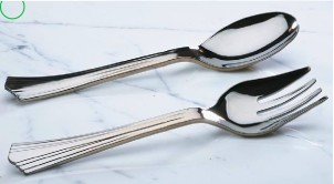 """Reflections Silver 10"""" Serving Fork"""