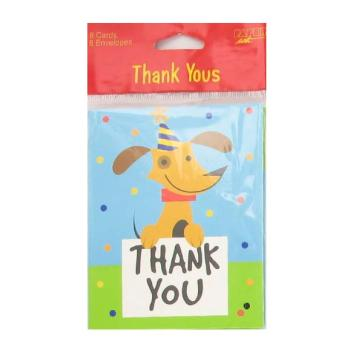 Rescue Pals Birthday Thank You Cards 8ct.