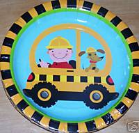 "Rescue Pals Construction 7"" Happy Birthday Plates 8ct."