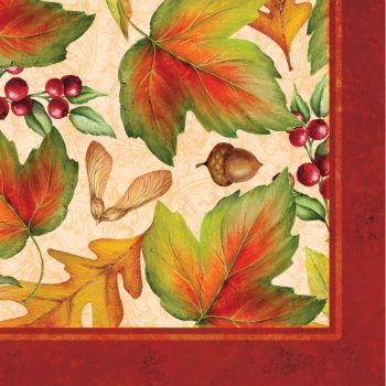 Rich Foliage Thanksgiving Lunch Napkins 16ct.