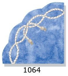 Rope on Blue Rice Paper Napkins 15ct.