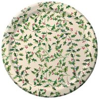 "Shades of Holly Christmas 7"" Dessert Paper Plates 25ct."