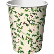Shades Of Holly Christmas 9oz. Hot / Cold Paper 25ct.