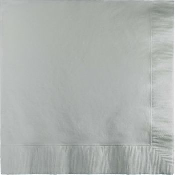 Silver Beverage Napkins 20ct.