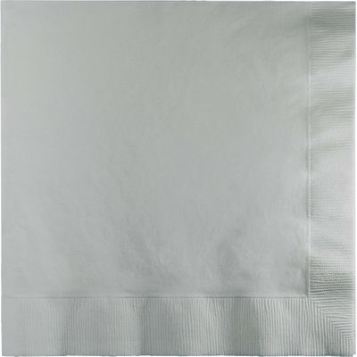 Silver Lunch Paper Napkins 50ct.