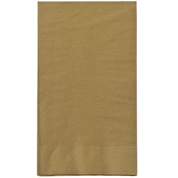Solid Gold Guest Towel Napkins Paper