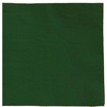 Solid Dark Green Luncheon Napkins 20ct.
