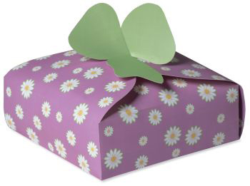 "Spring Flowers Pie Box 9.5"" x 9.5"" x 3"""