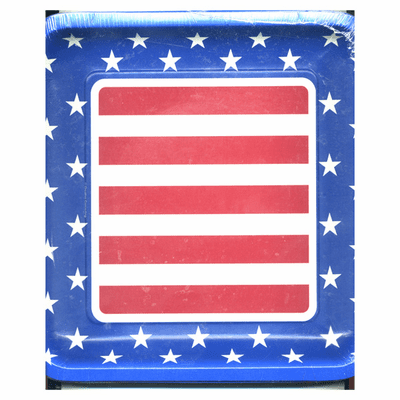 """Stars & Stripes Patriotic 4th Of July 10 1/4"""" Square Paper Plates 50ct."""