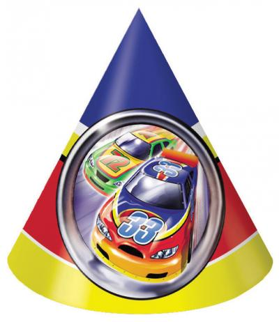 Start Your Engine Happy Birthday Party Hats 8ct.