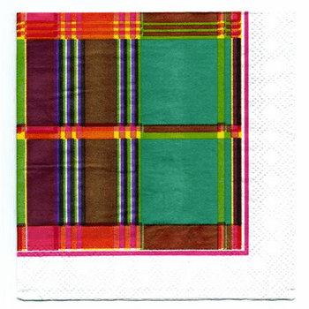 Summer Madras Beverage Napkins 20ct. 2 for $1