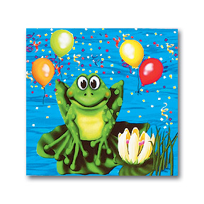 Swamp Party Frogs Beverage Napkins 16ct.
