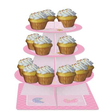 Teddy Baby Pink Tiered Server