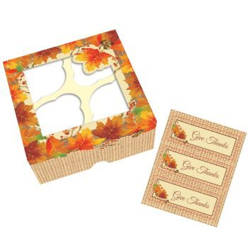 Thanksgiving Treat Boxes with Stickers, 3 count