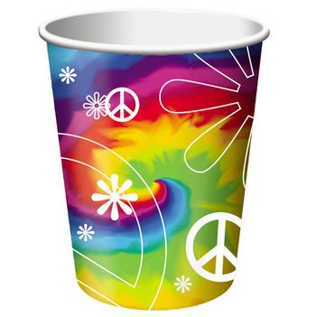 Tie Dye Fun Birthday Paper Cups 8ct.