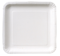 "White Square 9"" Paper Luncheon Plates 18ct."