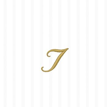 "White w/ Gold Monogram ""I"" Beverage Napkins 20ct."